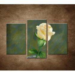 Maľovaná ruža - 3dielny 75x50cm