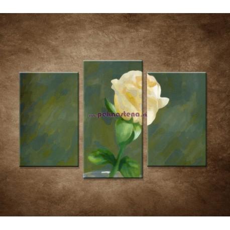 Obrazy na stenu - Maľovaná ruža - 3dielny 75x50cm