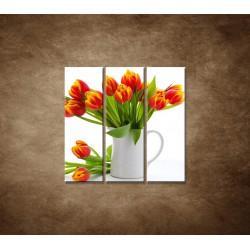 Obrazy na stenu - Červené tulipány - 3dielny 90x90cm