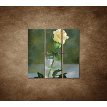 Obrazy na stenu - Maľovaná ruža - 3dielny 90x90cm