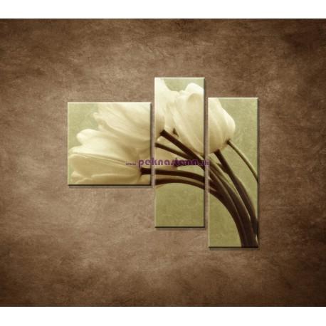 Obrazy na stenu - Kytica tulipánov - 3dielny 110x90cm