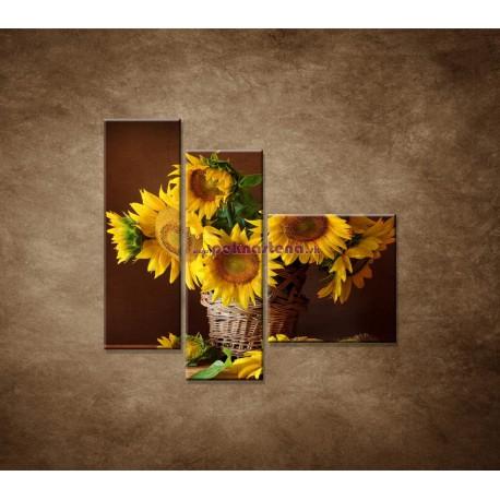 Obrazy na stenu - Slnečnice - 3dielny 110x90cm