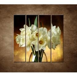 Obrazy na stenu - Narcisy - 4dielny 120x120cm