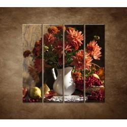 Obrazy na stenu - Kytica - 4dielny 120x120cm