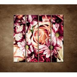 Kytica kvetov - 4dielny 120x120cm