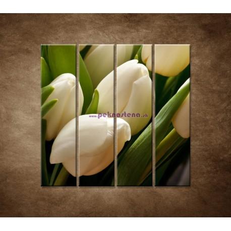 Obrazy na stenu - Kytica tulipánov - detail - 4dielny 120x120cm