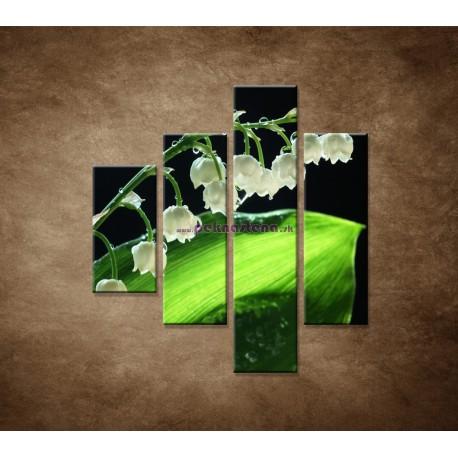 Obrazy na stenu - Konvalinka - 4dielny 80x90cm