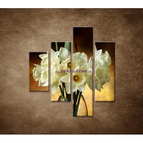 Obrazy na stenu - Narcisy - 4dielny 80x90cm