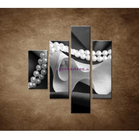 Obrazy na stenu - Čiernobiela kala - 4dielny 80x90cm
