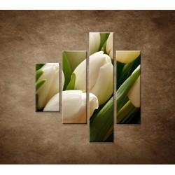 Obrazy na stenu - Kytica tulipánov - detail - 4dielny 80x90cm