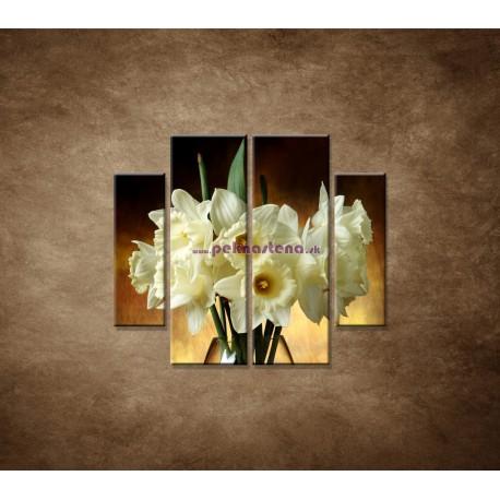 Obrazy na stenu - Narcisy - 4dielny 100x90cm
