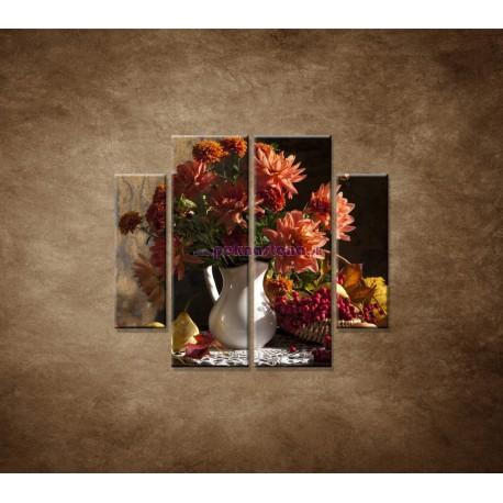 Obrazy na stenu - Kytica - 4dielny 100x90cm