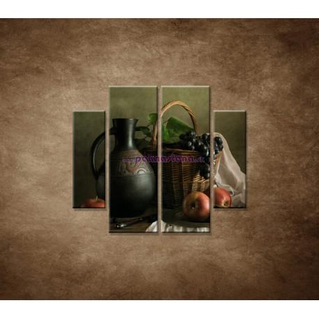 Obrazy na stenu - Zátišie - 4dielny 100x90cm