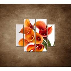 Obrazy  na stenu - Oranžové kaly - 4dielny 100x90cm