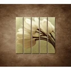 Obrazy na stenu - Kytica tulipánov - 5dielny 100x100cm