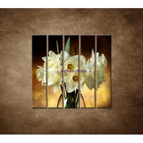 Obrazy na stenu - Narcisy - 5dielny 100x100cm