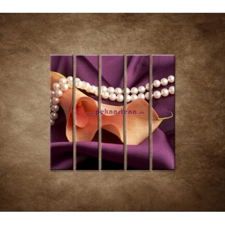 Obrazy na stenu - Kala a perly - 5dielny 100x100cm